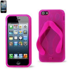 Reiko Slipper Sandal Design TPU Case For Iphone5 Hot Pink