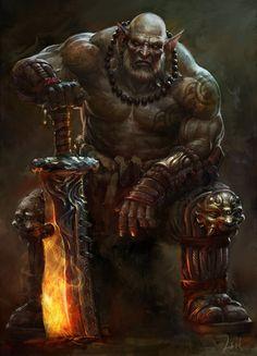 Orco... es una especie degenerada de los elfos, malvada y oscura.