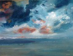 Dreigende wolken boven het Wad
