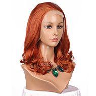 Vrouw+Pruik+Lace+Front+Synthetisch+Haar+Middel+Golvend+Oranje+Natuurlijke+haarlijn+Feestpruik+Halloween+Pruik+Cosplaypruik+Lolita+Pruik+–+EUR+€+65.24