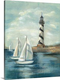Sailboats & Lighthouse
