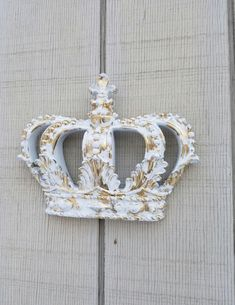 Gold Crown Wall Decor Nursery Wall Decor Crib Crown Canopy Wall Decor Ornate Crown Gold Fleur de Lis Nursery Shabby Chic Crown Wall Hanging by AshlynColelee on Etsy https://www.etsy.com/listing/501091563/gold-crown-wall-decor-nursery-wall-decor