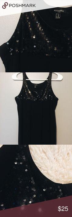 AXARA Paris Black Dress with Paillette Top AXARA Paris Black Dress with Paillette Top.  // Size: ES // The Body of the dress is loose. On the bottom, it wraps around both legs. AXARA Paris Dresses Mini