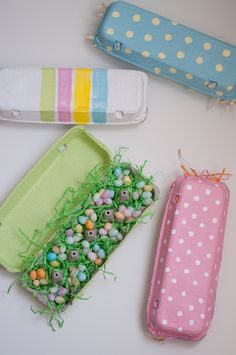 Egg Carton Gift Box idea from This Little Heart of Mine...love this idea...