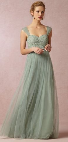Not in this color, but I like the style of this dress. Pretty for a bridesmaid or even a bride.