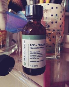 ACE-FERULIC serum from Solvaderm, that did what it promised to do. Every day and night after cleansing and toning, I applied one dropfull to my face using with a cotton pad and let it dry before applying my moisturizer.