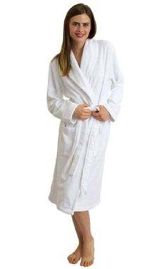 f41cb227e2 TowelSelections Turkish Terry Bathrobe Shawl Collar Robe for Women and Men  Made in Turkey LargeXLarge White