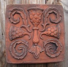 Scottish Thistle decorative stone wall tile - copy of original. Decorative Stone Wall, Decorative Bricks, Scottish Thistle, Wire Hangers, Wall Plaques, Brick Wall, Wall Colors, Wall Tiles, Terracotta