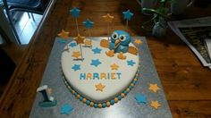 Hoot cake for a 1 year old princess x