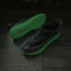 more photos 47738 bde22 May 2017 Cheap High Quality adidas Yeezy Boost 350 V2 Green Glow In The  Dark Grey