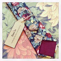 Mens skinny tie floral skinny tie mens floral tie by BeauTieUK