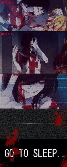 Go to Sleep, text, Jeff the Killer; Creepypasta