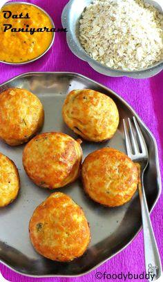 Oats Paniyaram / Indian Oats Breakfast Recipe