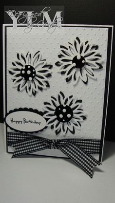 memory box dies cards | Cards using Memory Box Dies / Black & White Daisy