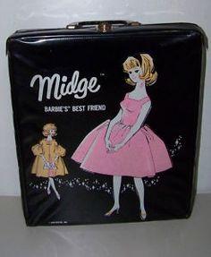 VTG 1962 Midge Marked 1958 with Clothing Accessories Case Dated 1962 Mattel Dolls, Vintage Barbie Dolls, Head Accessories, Clothing Accessories, Barbie Sets, 1960s Outfits, Mermaid Dolls, Gorgeous Blonde, Barbie Friends