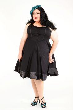 Domino Dollhouse - Plus Size Clothing: Noir Doll Dress