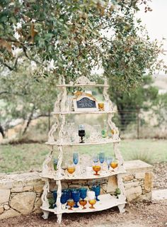This Garden-Inspired Summer Brunch Wedding at Camp Lucy from Mint Photography features an unbelievably stunning navy Tara LaTour wedding dress. Brunch Wedding, Summer Wedding, Wedding Day, Camping Wedding, April Wedding, Rustic Romance Wedding, Rustic Weddings, Country Weddings, Vintage Weddings