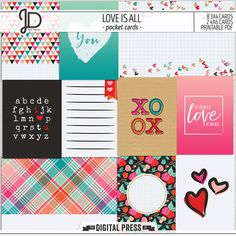 Love Is All | Pocket Cards by Juno Designs