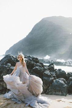Angie Diaz Hawaii Wedding photographer for the romantic wild hearts | CREATIVE DIRECTOR & STYLIST Utterly Engaged | FLORAL DESIGNER & STYLIST Catalina Neal | MAKEUP ARTIST & HAIR STYLIST Hikari Murakami | CREATIVE ASSISTANT Caroline Cervantes WEDDING GOWNS Carol Hannah | HEADPIECE HEART OF GOLD DESIGNS | CALLIGRAPHY Sarah Ingram | WEDDING RINGS Susie Saltzman | SILK RIBBONS tono & co. | MODEL Angelei Shulman
