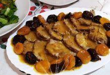 Νόστιμο ψητό στο φούρνο με κονιάκ, πορτοκάλι, βερίκοκα και δαμάσκηνα Chicken, Meat, Food, Youtube, Essen, Meals, Yemek, Youtubers, Eten