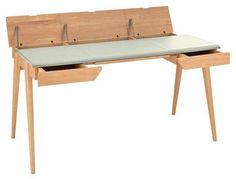 Quand bois et cuir se rencontre sur le bureau - Bureau de style - CôtéMaison.fr