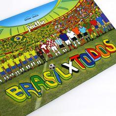 Em Brasil x Todos, J. Victtor usou a sequência de quadros para contar o desenrolar de uma peleja de futebol entre dois grandes times.