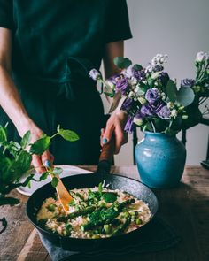 PARSARISOTTO – Liemessä Food Photography Styling, Food Styling, Risotto, Aesthetic Food, I Foods, Food Inspiration, Asparagus, Nom Nom, Good Food