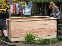 Hochbeet Rahmen Stapelbar Aus Holz 120x19x80cm Natur In 2020 Hochbeet Garten Palette Beet