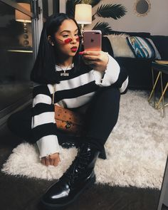 81 cute fall outfits that will make you look an amazing 45 Dope Outfits, Grunge Outfits, Trendy Outfits, Fashion Outfits, Fashion Trends, School Outfits, Runway Fashion, Black Girl Fashion, Look Fashion