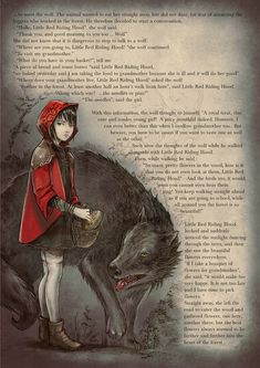 i really like the art of this [the little red riding hood - david revoy] Little Red Hood, Little Red Ridding Hood, Red Riding Hood Book, Hood Books, Character Art, Character Design, Psychedelic Drawings, Big Bad Wolf, Wolf Tattoos