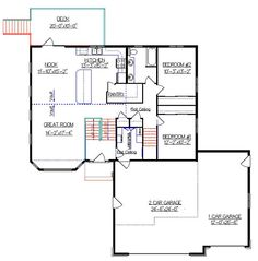 Craftsman bi level in haworth exterior home styles for Modified bi level plans