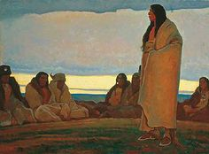 The painting of Maynard Dixon depicts the finer elements of American West and…