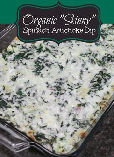 HomePayge Blog: Organic & Low-Cal Spinach Artichoke Dip {to die for!}
