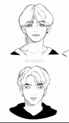 Most current Free of Charge bts drawing tutorial Ideas : Learn how to draw with these tutorials, which teach you to draw animals, people, flowers, landscapes and more. If learn Kpop Drawings, Art Drawings Sketches Simple, Animal Drawings, Drawing Ideas, Anime Boy Zeichnung, Arte Sketchbook, Anatomy Art, Anime Sketch, Art Reference Poses