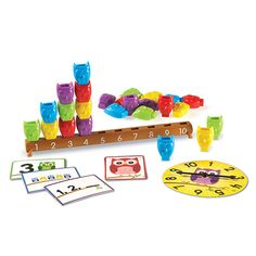 Learning Essentials™ 1-10 Counting Owls Activity Set Whoo wants to count? Stack these colorful owls to match the numbers (1-10) on the branch to build early counting skills and one-to-one correspondence. Become wise as an owl as you explore color identification, sorting and patterning, number and quantity relationships, and more!
