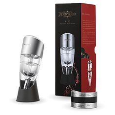 Décanteur à vin rouge, Aérateur vin, Réglable, Jerrybox WA-03. Essentiel pour les vins rouges et blancs, Idée Cadeau pour la maison, un bar…