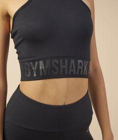 d024830ee55b6 Gymshark Serene Sports Crop Top - Black 6 Workout Bra