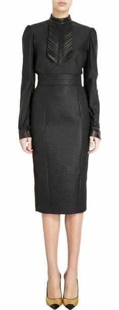 L'Wren Scott Tuxedo Bib Blouse at Barneys.com #Modest doesn't mean frumpy! #DressingWithDignity www.ColleenHammond.com