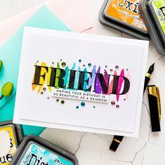 Birthday Puns, Simple Card Designs, Honey Shop, Rainbow Card, Cards For Friends, Friend Cards, Gem Shop, Glue Crafts, Paper Crafts