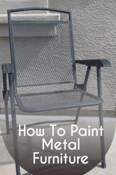 The Best Way To Paint Metal Outdoor Furniture Metal furniture
