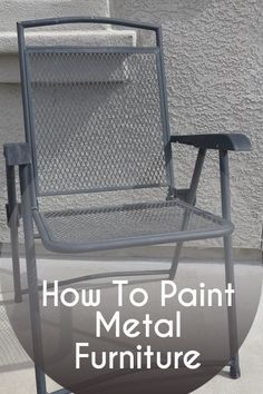 How To Take Your Rusty Outdoor Metal Furniture And Restore