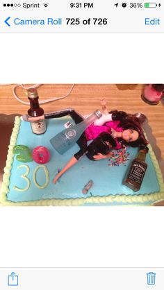 Drunk Barbie cake.., OH man. Maybe do a spin on it, Drunk Barbie at the holiday party passed out under the tree?