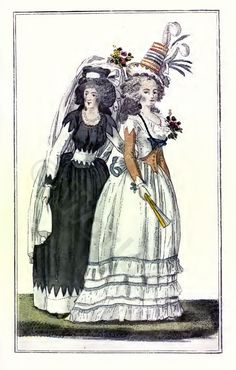 French Revolution costumes. THE FRENCH REPUBLIC 1789 to 1802.
