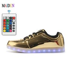Men's Shoes Men's Casual Shoes Remote Control Led Shoes Womens Pink Color High Top Shoes With Usb Charging Lace Up Luminous Casual Neon Dancing Party Sneakers