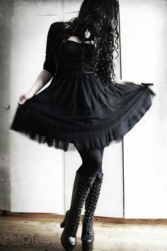 957fc4a55b3 Gothic Fashion black dress Gothic Fashion