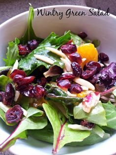 Wintry  Green Salad with Citrus and Cranberries