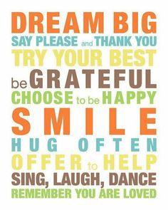 Dream Big ...