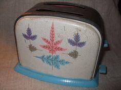 Vintage metal toy toaster.