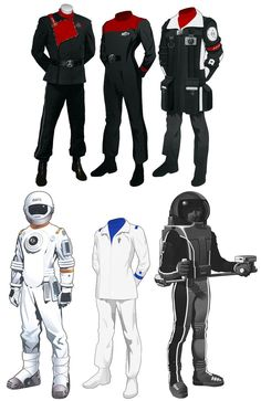 Another AU Starfleet uniform set by MorganDonovan.deviantart.com on @DeviantArt