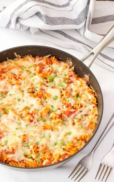 Classic Tuna Pasta Bake! Crowd pleasing comfort food at it's best.